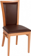 Capital/Kim Wooden Side Chair with Upholstered Seat & Back in Natural & Dark Walnut